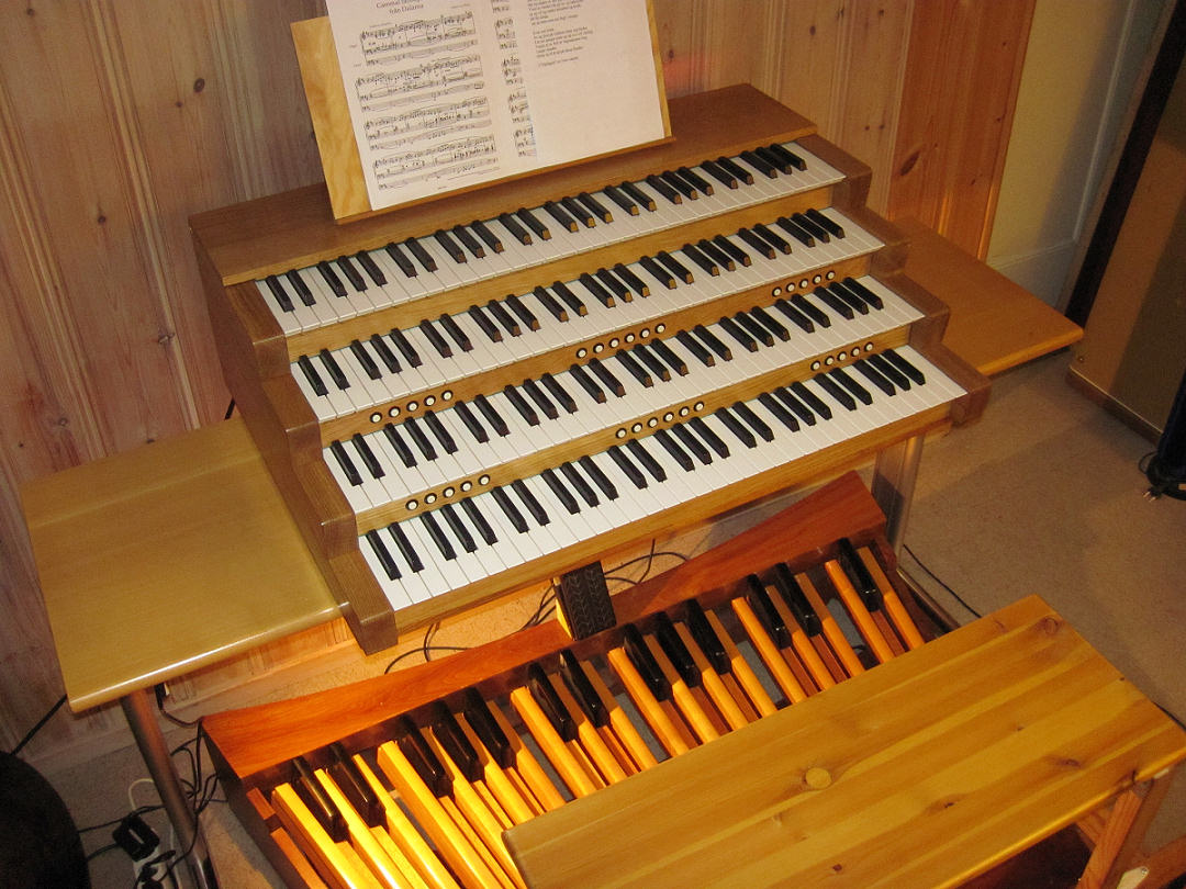 The Arturia CS-80V played on a large MIDI organ console