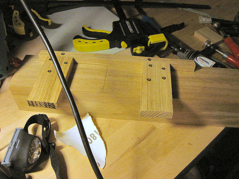 Cut, it was rather easy to measure up the other key cheeks for routing.